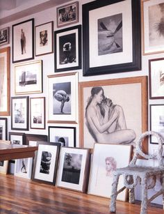 Some day I will have an amazing wall of art such as this. Gallery wall #30DaysofInspiration
