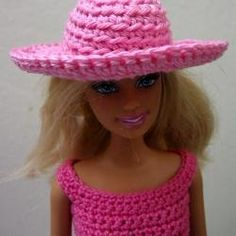 how to crochet barbie doll hat (pattern) http://www.squidoo.com/how-to-crochet-barbie-doll-hat-pattern-