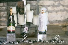 Bride & Groom champagne bottles!