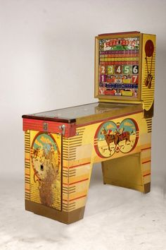 Antique Pinball Machines | VINTAGE BALLY PINBALL MACHINE HORSE RACING THEME