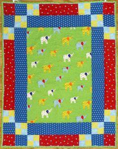 Elephant Celebration Quilt Kit  Quick, easy, adorable!