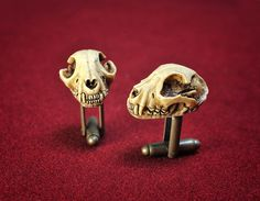 CAT Skull Cufflinks - Goth Chic Milano 2015 collection