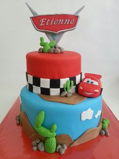 Birthday cake Cars