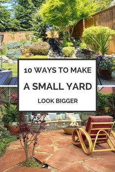 Superbe 8 Ways To Make Your Small Yard Look Bigger. Backyard Garden IdeasGarden ...