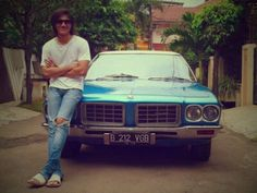 VGB - Male Model & Artist from Indonesia with Him Classic Car - Holden Premier