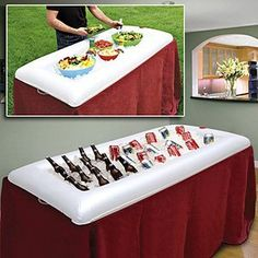 Topseller Inflatable Portable Serving Bar Salad Buffet Ice Cooler Picnic Drink Table Birthday Party Camping With Drain Plug Picnic Drinks, Bar Drinks, Drink Bar, Beverages, Soda Drink, Picnic Foods, Camping Parties, Grad Parties, Summer Parties
