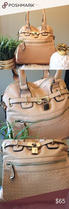Padlock Purse in Nude The cutest bag! Has padlock and woven front detail. Love it but have had it for a couple years and never use it. Bag has a longer strap that can be attached and worn as a cross body. Originally purchased from Nordstrom Nordstrom Bags