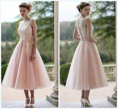 Neu Kurz Rosa Spitze Tüll Brautjungfernkleid angefertigt Brautkleider Hochzeit