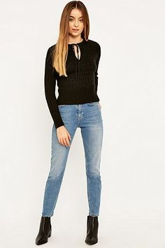 Pins & Needles Tie Neck Jumper - Urban Outfitters