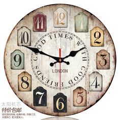 Find More Information about Fashion  Large Wall Clock Home Decor Sun Movement Silent Wall Clocks Romance Retro Wall Clock  Quartz Digital  Wall Watch V41,High Quality watch cover,China watch gold Suppliers, Cheap watch component from Rotation Time on Aliexpress.com