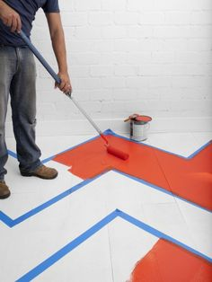 """Hand painted floors - I am painting a """"carpet"""" on my cement gazebo floor - I will coat it with a sealer.  Easy, fun, and so easy to """"clean"""""""
