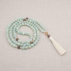 Amazonite 108 Mala Necklace - Creativity & Patience - Meditation Beads - Yoga Mala Beads - Item # 801 by GoldenLotusMala on Etsy https://www.etsy.com/listing/158153563/amazonite-108-mala-necklace-creativity