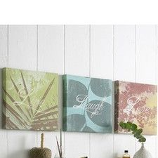 Words Canvas Wall Art (Set of 3)