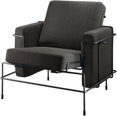 Fauteuil rembourré Traffic Tissu marron foncé / Structure noire - Magis - Décoration et mobilier design avec Made in Design