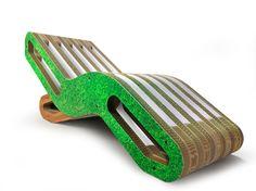 L'elegante e raffinato ecodesign di Giorgio Caporaso esposto a VISCOM 2012 Cardboard Paper, Stool Chair, Cardboard Furniture, Wooden Stools, Sustainable Design, Relax, Contemporary, Interior Design, Poufs