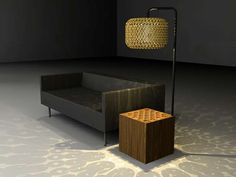 The lamp shade is made from corks!