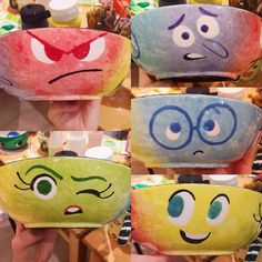 Inside Out disney color me mine pottery bowls. I follow this guy on Instagram for inspiration. Such cute stuff and ideas !