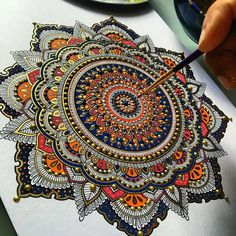 Insanely beautiful mandala work by @murderandrose