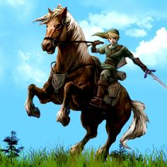 Link riding a horse