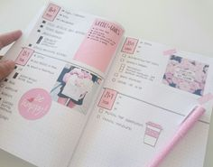 WEEK 9/14 | This week in my bullet journal so far (and ahead because I like to plan in advance). Trying to keep it in a soft pink tone ❤