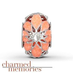 From the Charmed Memories® collection, this cathedral charm is crafted in sterling silver with neon orange enamel.