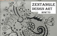 How To Draw Complex Zentangle Art Design For Beginners, Easy Tutorial Do...