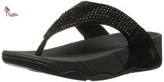 Fitflop  Rokkit, Sandales pour femme - Noir - Black Diamond, 39 - Chaussures fitflop (*Partner-Link)