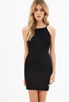 Stretch-Knit Bodycon Dress http://picvpic.com/women-dresses-cocktail-party-dresses/forever21-high-neck-bodycon-dress#Olive?ref=PCFeTk