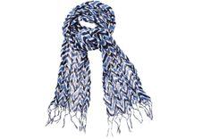 rikshaw design - scarf - zig zag navy