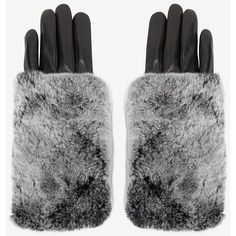 Carolina Amato Rex Rabbit Fur Top Full Leather Glove (12,810 MKD) ❤ liked on Polyvore featuring accessories, gloves, black, rabbit fur gloves, carolina amato, leather gloves, black gloves and rabbit fur lined gloves