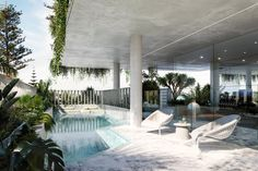 FORME: Posts | LinkedIn Ocean View Apartment, Mim Design, Polished Plaster, Curved Walls, Swimming Pool Designs, Indoor Outdoor, Outdoor Decor, Other Rooms, Beautiful Interiors