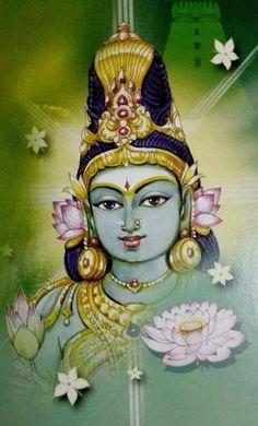 Beautiful Lady Maa Parvati Mysore Painting, Kerala Mural Painting, Tanjore Painting, Indian Art Paintings, Painting Abstract, Lord Ganesha Paintings, Lord Shiva Painting, Krishna Painting, Krishna Art