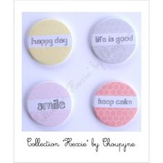 """4 Badges Collection """"Hexie"""" by Choupyne"""