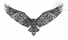 Falcon tattoo design with all the intercay, but maybe the wings down and it's a sternum tattoo Eagle Tattoos, Arrow Tattoos, Feather Tattoos, Leg Tattoos, Body Art Tattoos, Tribal Tattoos, Sleeve Tattoos, 16 Tattoo, Hawk Tattoo