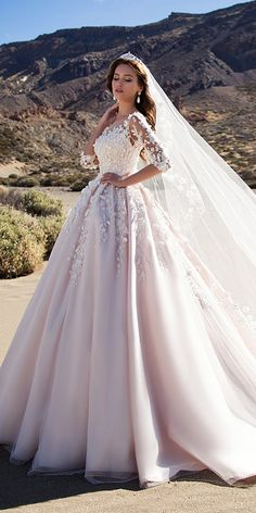 Attractive Tulle Bateau Neckline A-line Wedding Dress With 3D Flowers & Lace Appliques & Beadings