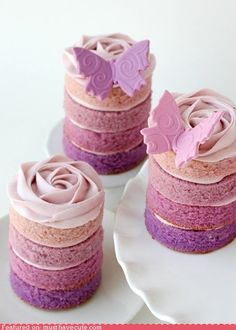 ombre mini cakes.. i must make these
