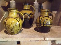 Awesome slip decorated pottery.  Modern reproductions.