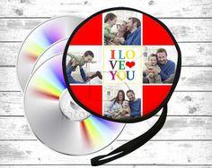 porta cd con collage di foto