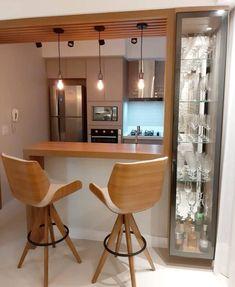 Kitchen Bar Design, Pantry Design, Home Decor Kitchen, Interior Design Kitchen, Home Kitchens, Kitchen Bar Counter, Kitchen Furniture, Home Bar Designs, Home Room Design