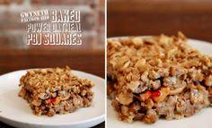 Gwyneth Paltrow-ized Baked Power Oatmeal PBJ Squares #vegan #recipe #breakfast #healthy