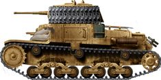 The Carro Armato was the main Italian medium tank for the duration of the North African campaign, until the arrival of the very similar North African Campaign, Military Drawings, Italian Army, Afrika Korps, Engin, Ww2 Tanks, Tank Design, Military Equipment, Chenille