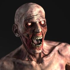 zombie character 3d model