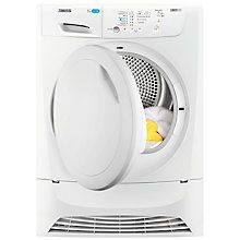 Buy Zanussi LINDO ZDP7203 Condenser Freestanding Tumble Dryer, 7kg Load, B Energy Rating, White Online at johnlewis.com