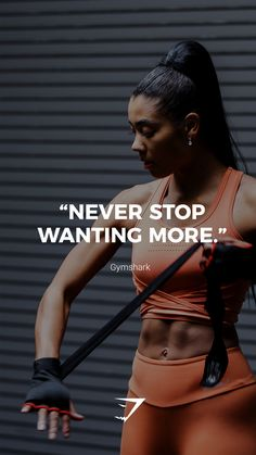 """""""Never stop wanting more. Lotti marlene_reichel Sport Motivation """"Never stop wanting more. Sport Motivation, Fitness Motivation Quotes, Health Motivation, Workout Motivation, Fit Life, Routine, Fitness Inspiration Quotes, Gym Quote, Keto"""