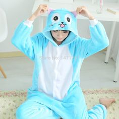 Cheap Costumes, Buy Directly from China Suppliers: Lovely Winter Flannel FootedAnime Cartoon Fairy TailHappyOnesie Hoodies One Piece Party Dress Jumpsui