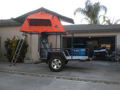 Toyanvil& utility trailer rebuild - Page 3 - ADVrider - Camping idea - Camping Trailer Diy, Trailer Tent, Jeep Camping, Atv Trailers, Adventure Trailers, Best Trailers, Motorcycle Camper Trailer, Off Road Camper Trailer, Expedition Trailer