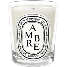 Diptyque Ambre Candle/6.5 oz. ($62) ❤ liked on Polyvore featuring home, home decor, candles & candleholders, fillers, candles, decor, stuff, apparel & accessories, no color and diptyque