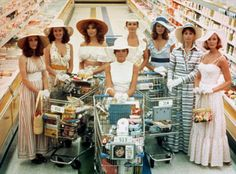 "The local ladies dressed for a typical day of grocery shopping in ""The Stepford Wives"" from 1975."