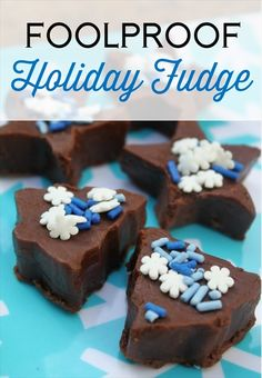 Foolproof Holiday Fudge, a simple and easy recipe for perfect fudge every time! #Fudge #Christmas #Sweets
