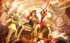 League of Legends Girl Armor Sword Shield Leona Gevurah_studios 4096×2560